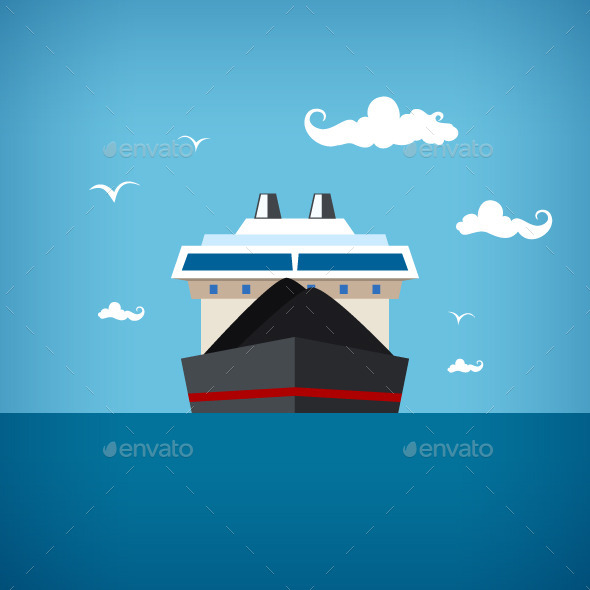 GraphicRiver Dry Cargo Ship 9845126