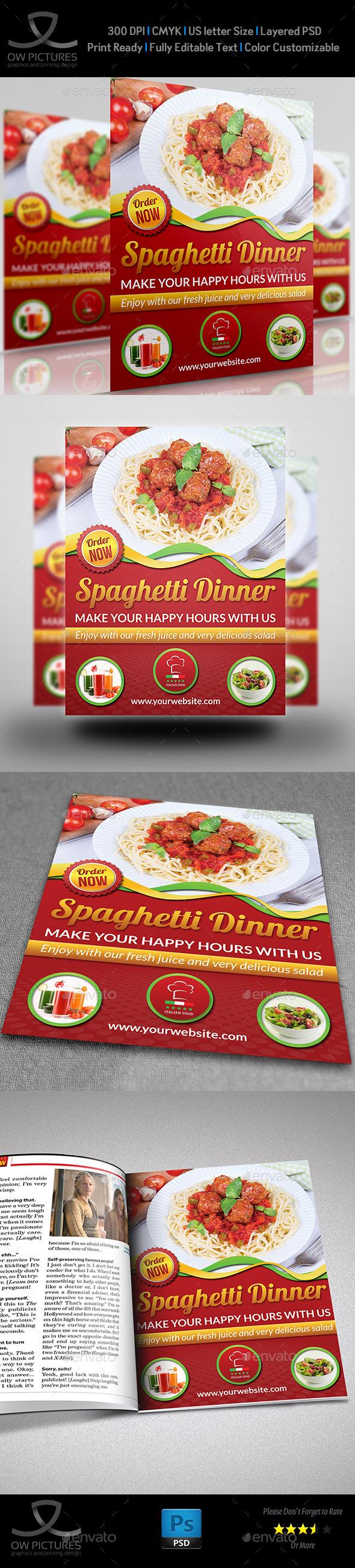 GraphicRiver Restaurant Flyer Template Vol.6 9845146
