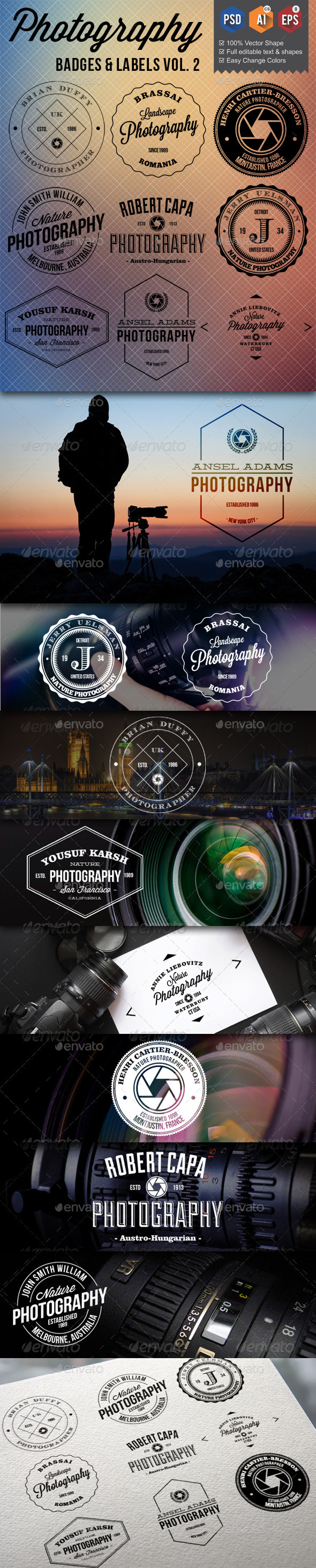 GraphicRiver Photography Badges Labels v2 9845175