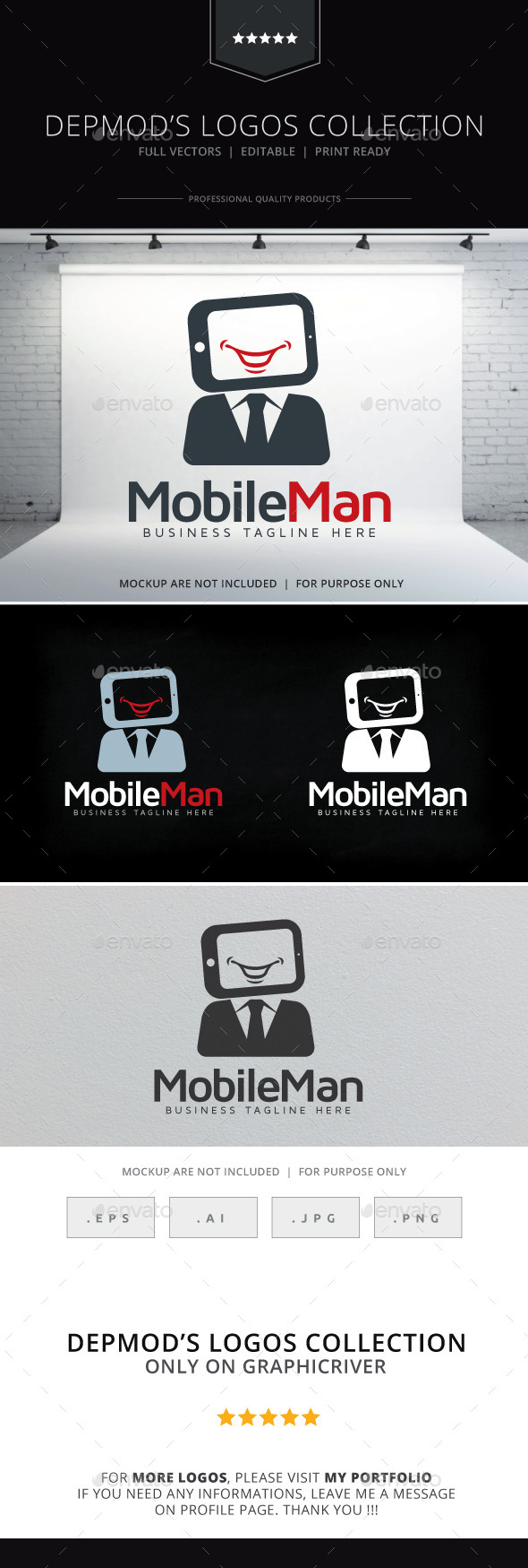 GraphicRiver Mobile Man Logo 9845192