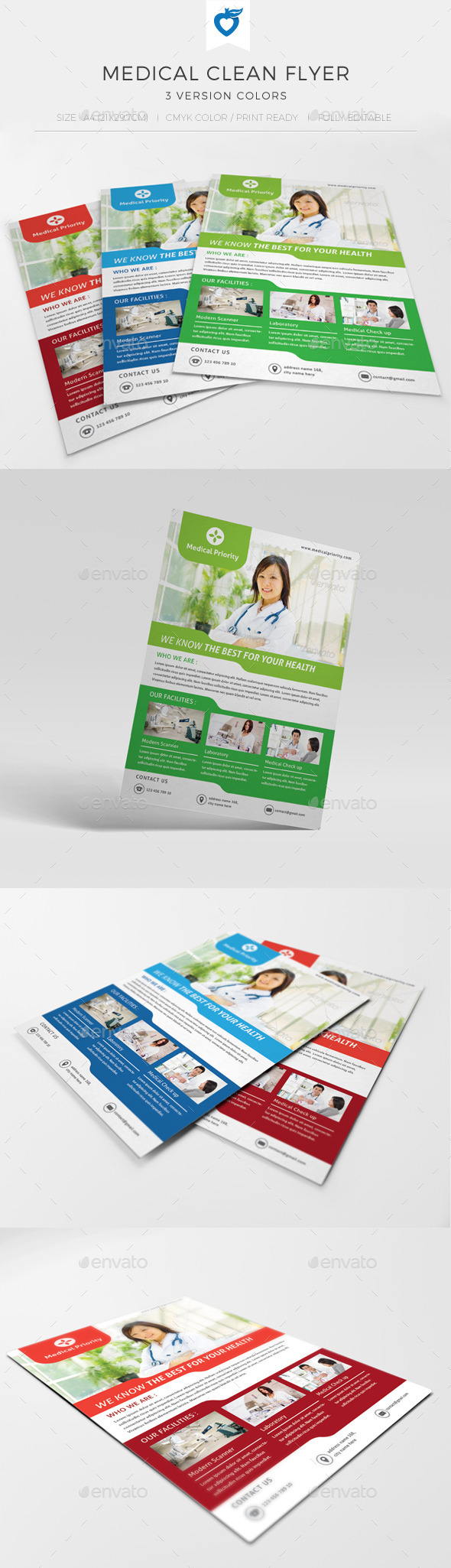 GraphicRiver Medical Clean Flyer 9845287