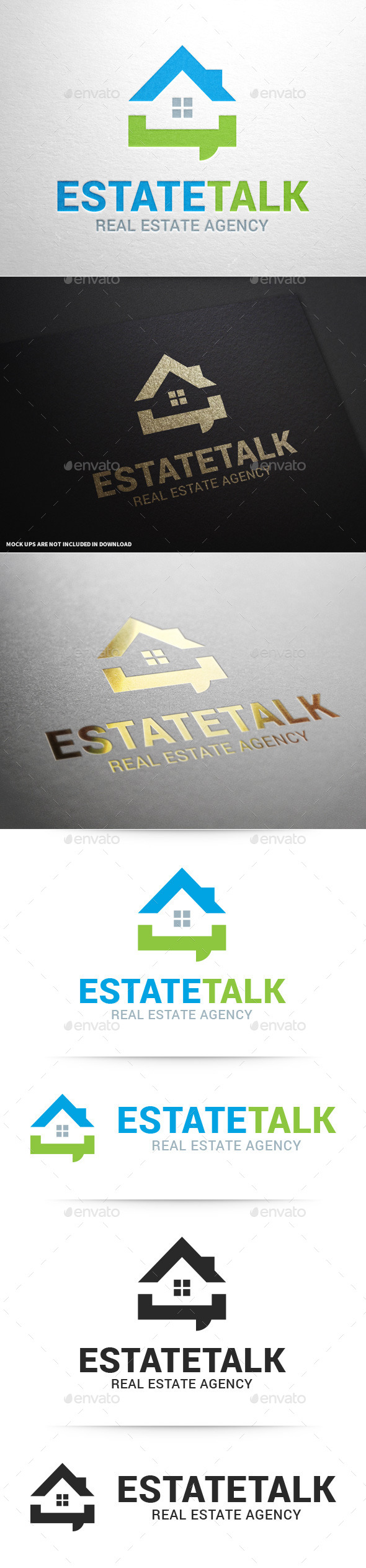 GraphicRiver Real Estate Talk Logo Template 9845324