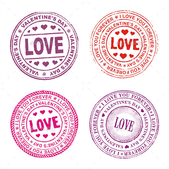 GraphicRiver Valentine Day Seal 9845477