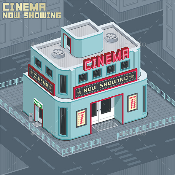 GraphicRiver Cinema Building 9845485