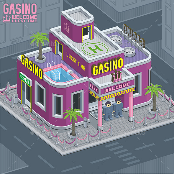 GraphicRiver Casino Building 9845573
