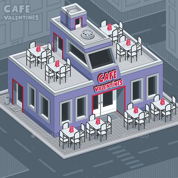 GraphicRiver Facade Valentine Cafe 9845621
