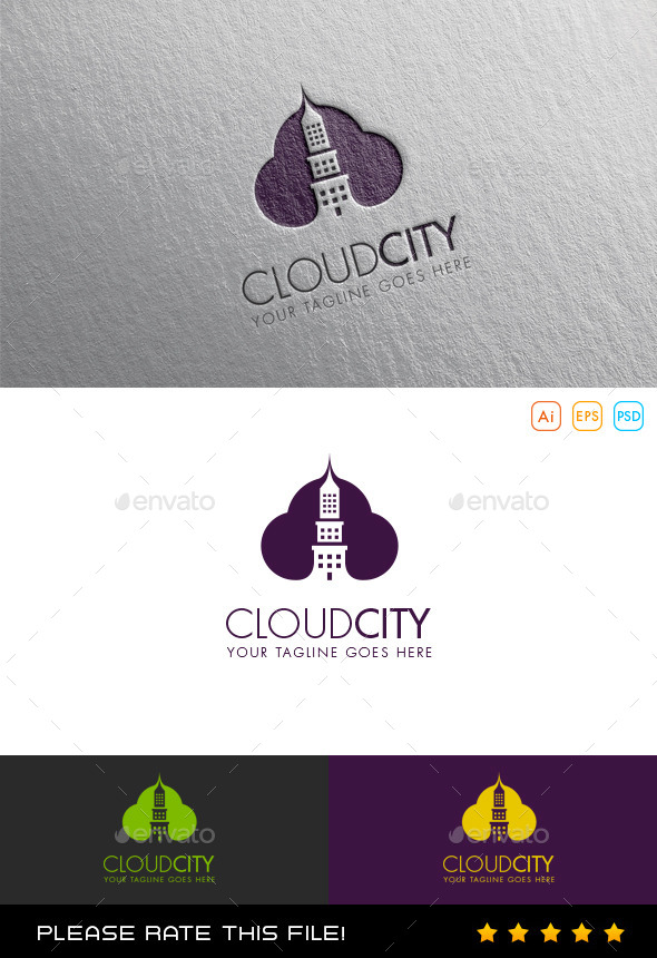 GraphicRiver Cloud City Logo 9845633