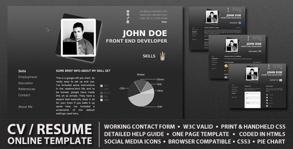ProCV - Professional Online Resume / CV - ProCV - A professional clean and minimalistic online CV / Resume.