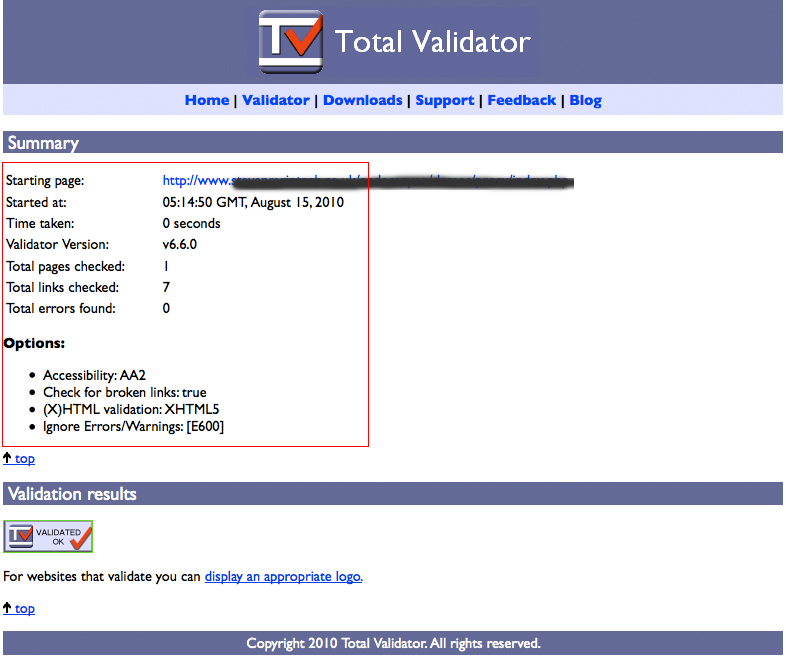 ProCV - Professional Online Resume / CV - I have coded the site in XHTML5! This is a screenshot of the validator showing 0 errors and that it is completely W3C. Note: I have ignored the error [E600] which relates to the viewport metatag (a special HTML5 tag for handheld devices, ignored by all browsers that don't recognise this anyway)