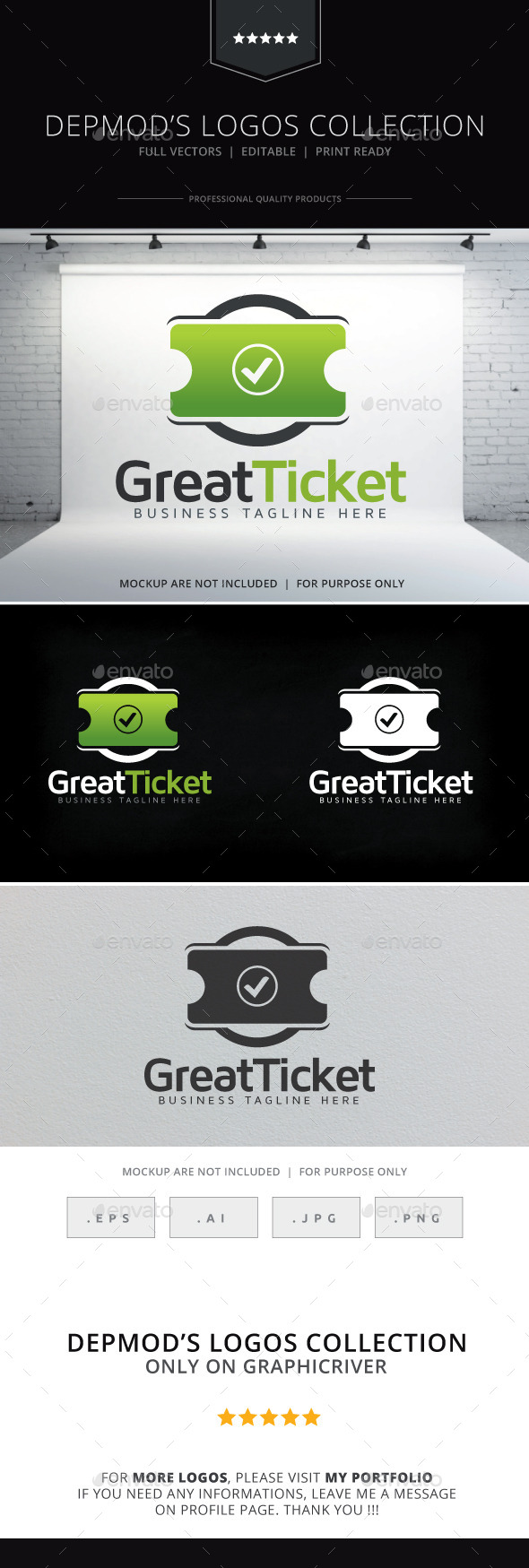 GraphicRiver Great Ticket Logo 9845697