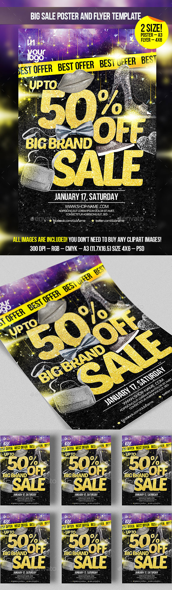 GraphicRiver Big Sale Poster and Flyer Template 9845713