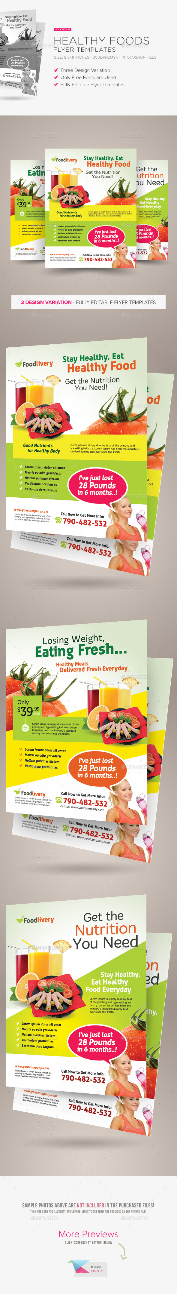 GraphicRiver Healthy Food Flyer Templates 9845954