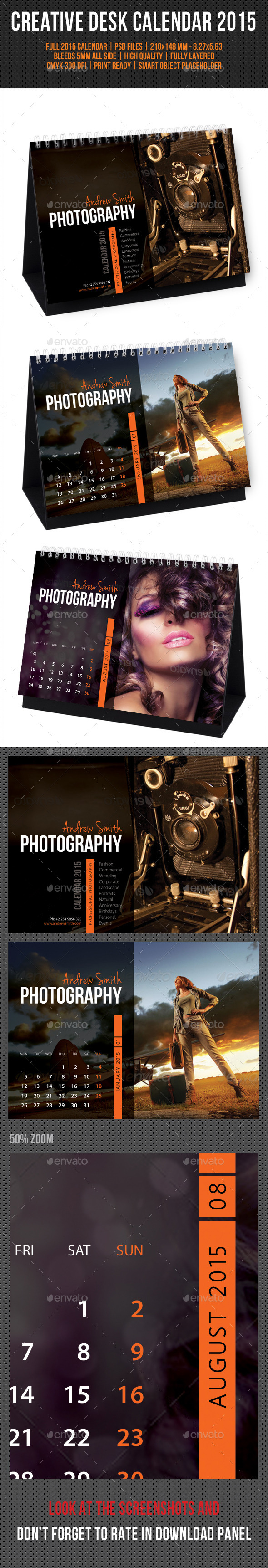 GraphicRiver Creative Desk Calendar 2015 V10 9846401