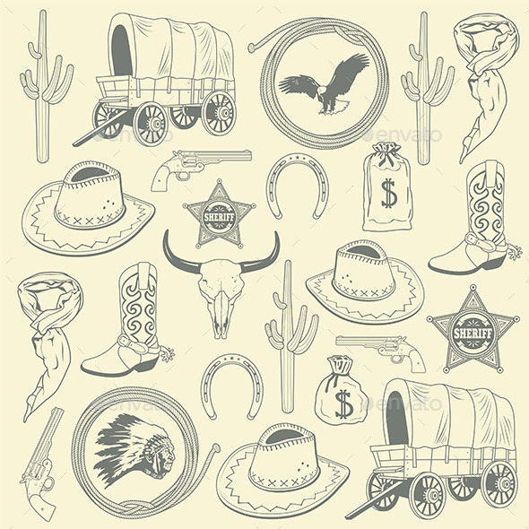 GraphicRiver Cowboy Seamless Pattern 9846404
