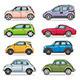 Car Set - GraphicRiver Item for Sale