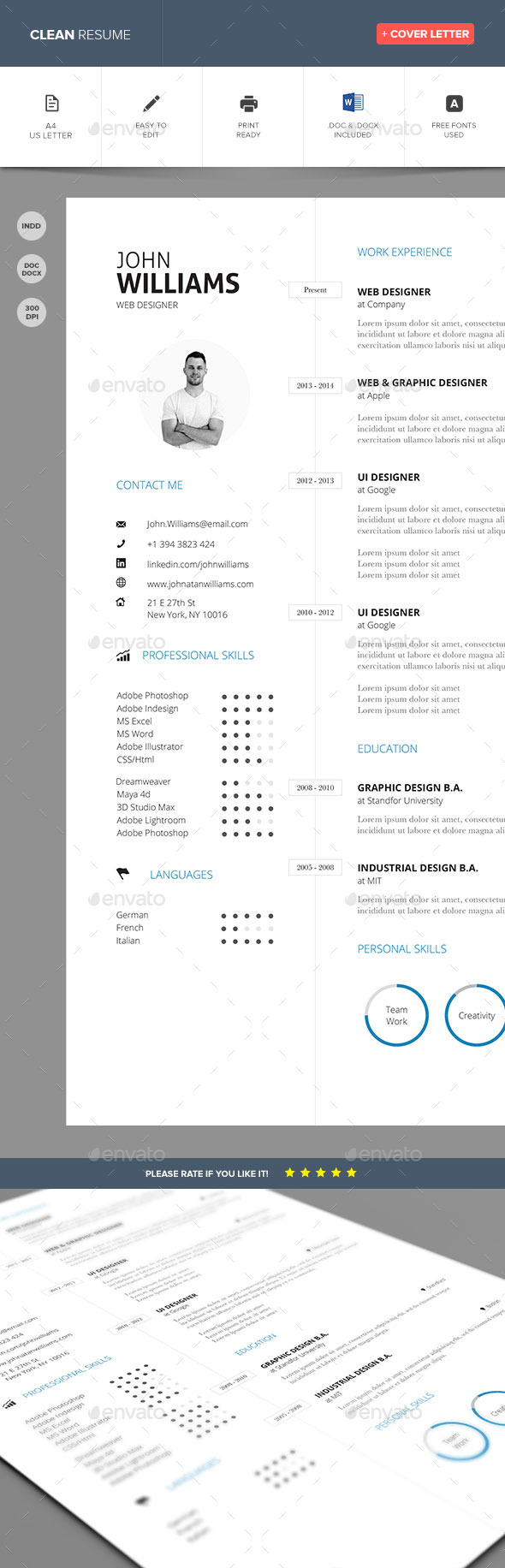 GraphicRiver Clean Resume Vol 3 9846439