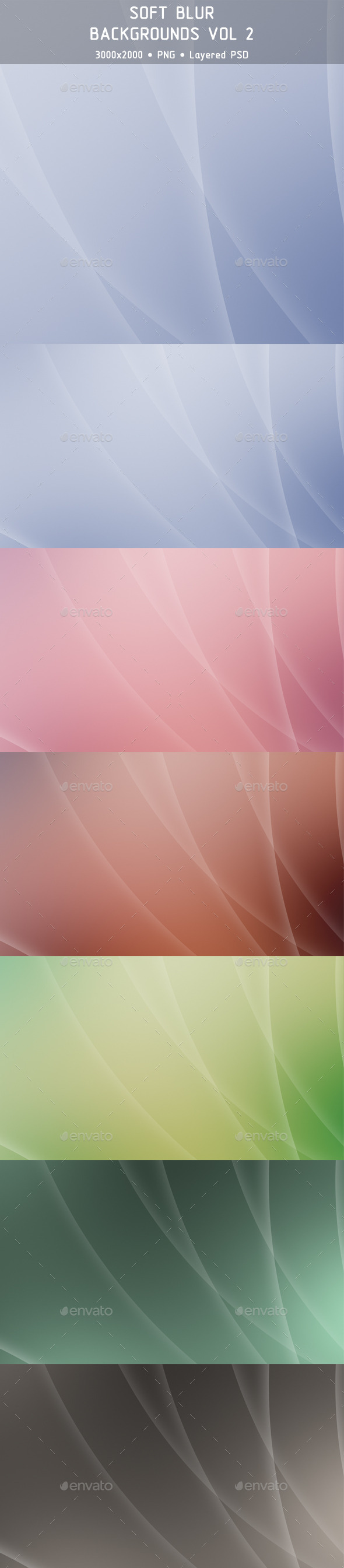 GraphicRiver Soft Blur Backgrounds Vol 2 9846694