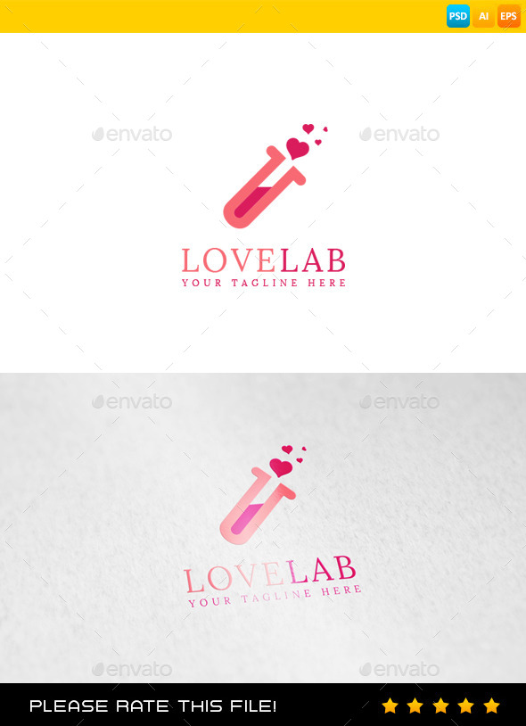 GraphicRiver Love Lab Logo 9846720