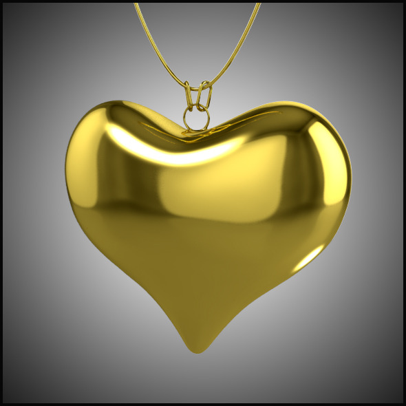 3DOcean Heart Necklace 9846840