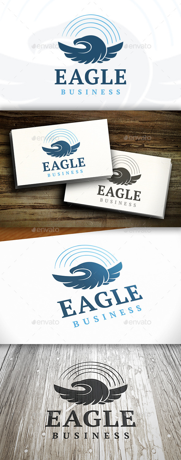 GraphicRiver Eagle Flight Logo 9846909