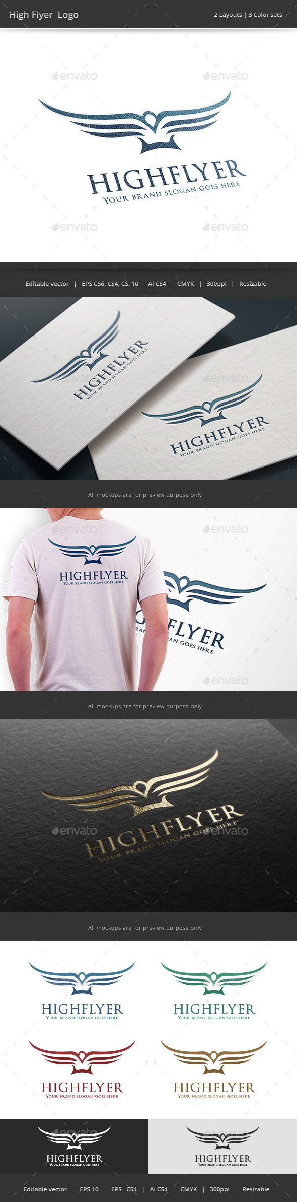 GraphicRiver High Flyer Bird Logo 9846961