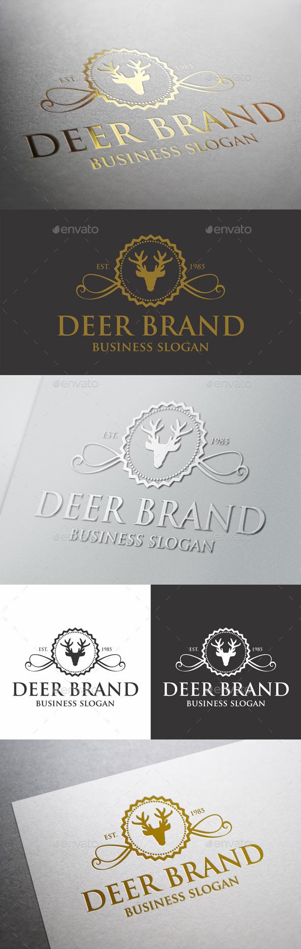 GraphicRiver Deer Brand Crest Logo 9846985