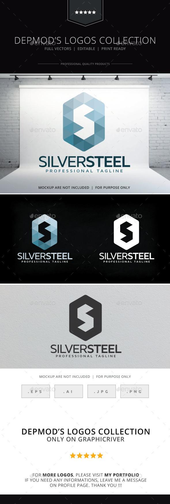 GraphicRiver Silver Steel Logo 9847046