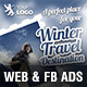 Winter Travel Web & Facebook Banners - GraphicRiver Item for Sale