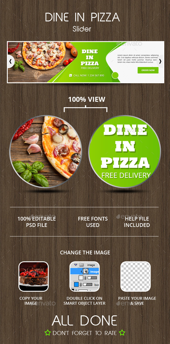 GraphicRiver Dine In Pizza Slider 9847055