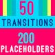 50 Transitions with 200 Video & Text Placeholders - VideoHive Item for Sale