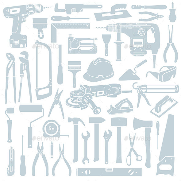 GraphicRiver Tools Set 9847113