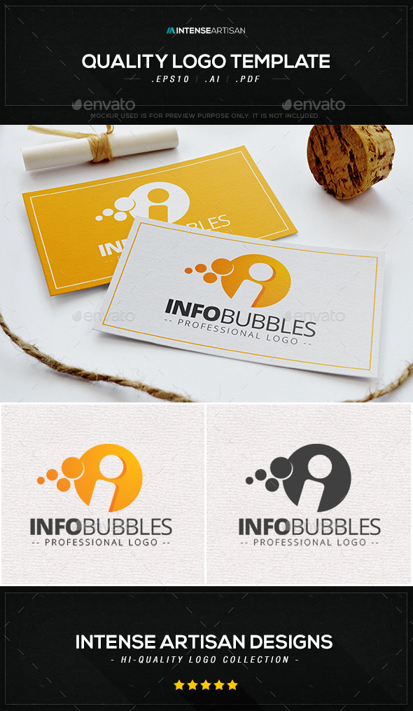 GraphicRiver Info Bubbles Logo Template 9847140