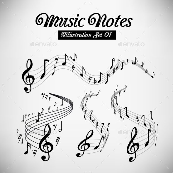 GraphicRiver Musical Staves 9847141