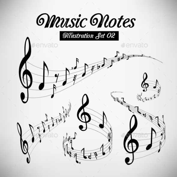 GraphicRiver Musical Staves 9847143