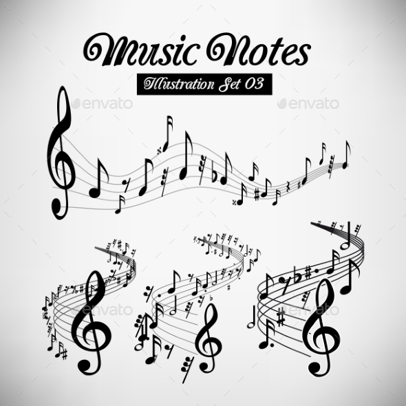 GraphicRiver Musical Staves 9847144
