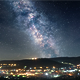 Milky Way Over Mountain Town - VideoHive Item for Sale