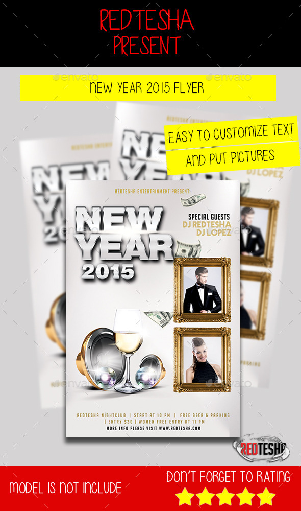 GraphicRiver New Year 2015 Flyer 9796580