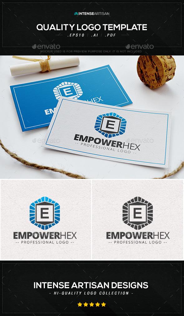 GraphicRiver Empower Hex Logo Template 9847180