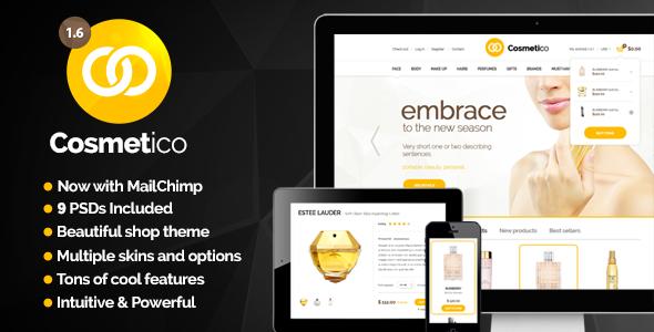 Cosmetico - Responsive eCommerce WordPress Theme - WooCommerce eCommerce