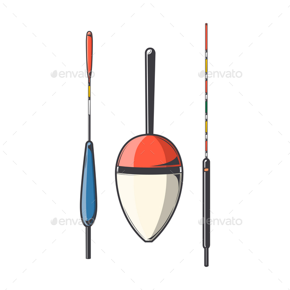 GraphicRiver Set of Fishing Floats 9847250