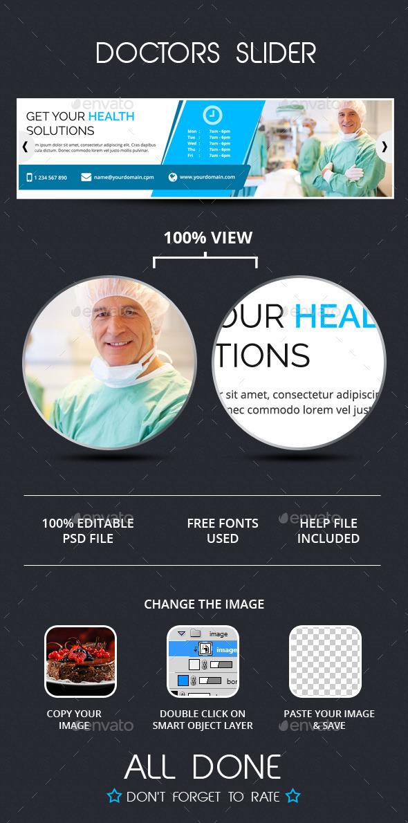 GraphicRiver Doctors Slider Template 9847375