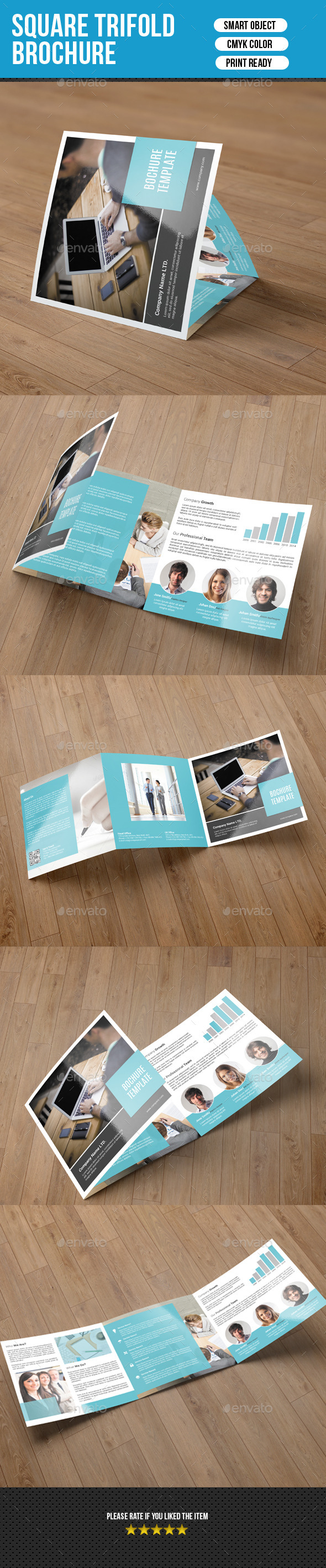GraphicRiver Corporate Square Trifold Brochure-V55 9847398