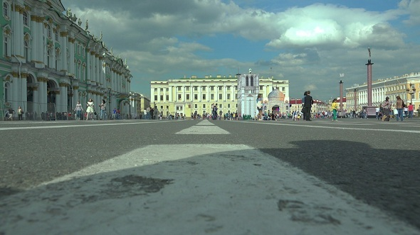 The Palace Square in Petersburg