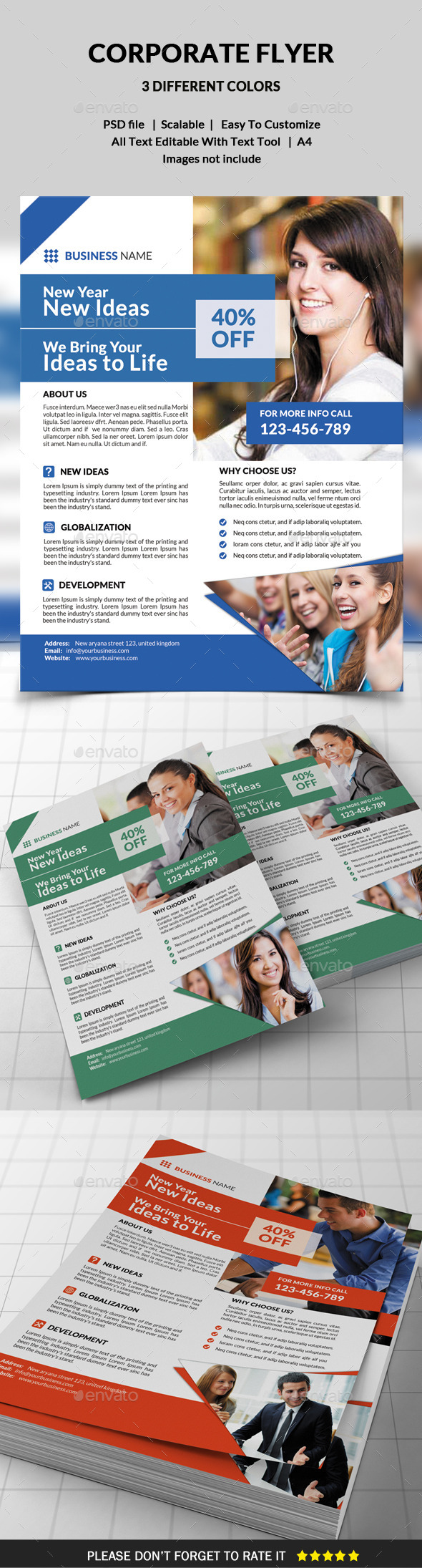 GraphicRiver Corporate Flyer 9809124