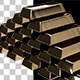Gold Bars Stacked in a Pyramid Shape - VideoHive Item for Sale