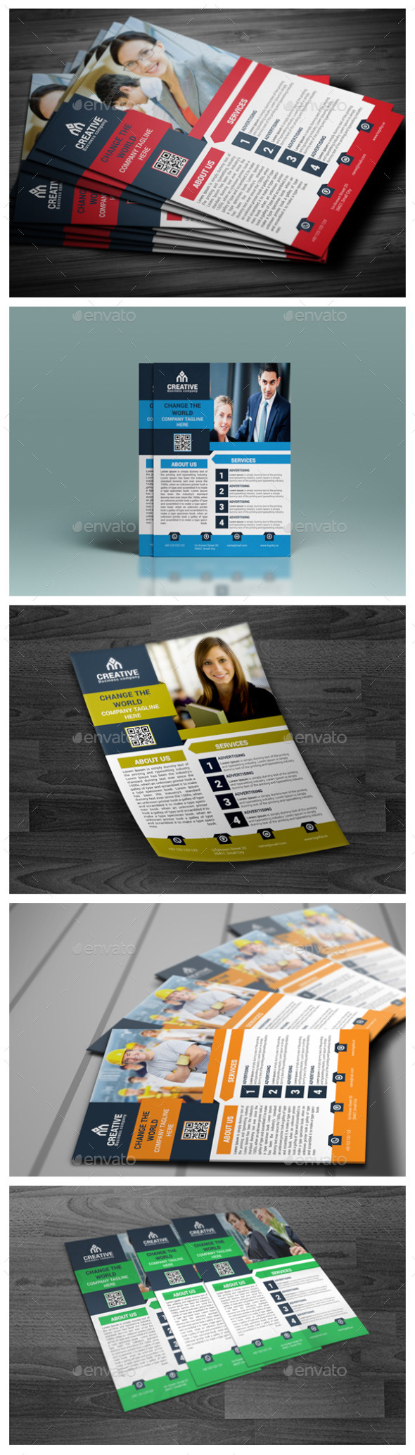 GraphicRiver Corporate Business Flyer Templates 9847685