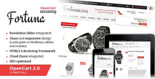 Fortuna Elegant and responsive OpenCart theme