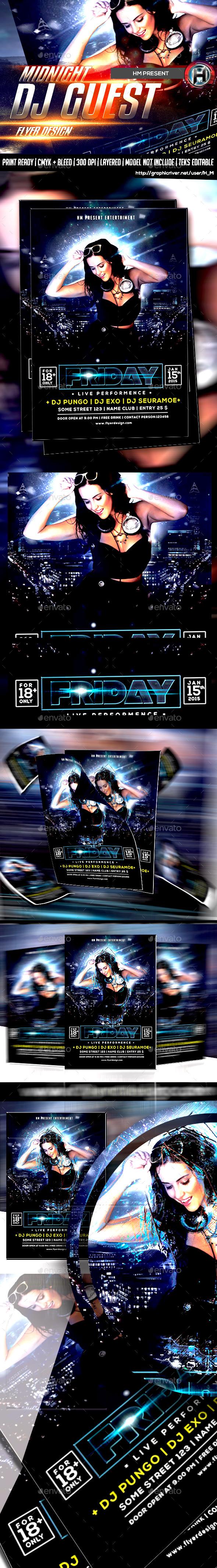 GraphicRiver Midnight Dj Guest Flyer Design 9847864