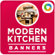 Modern Kitchen Banners - GraphicRiver Item for Sale