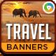 Travel Web Banner Design Set - GraphicRiver Item for Sale
